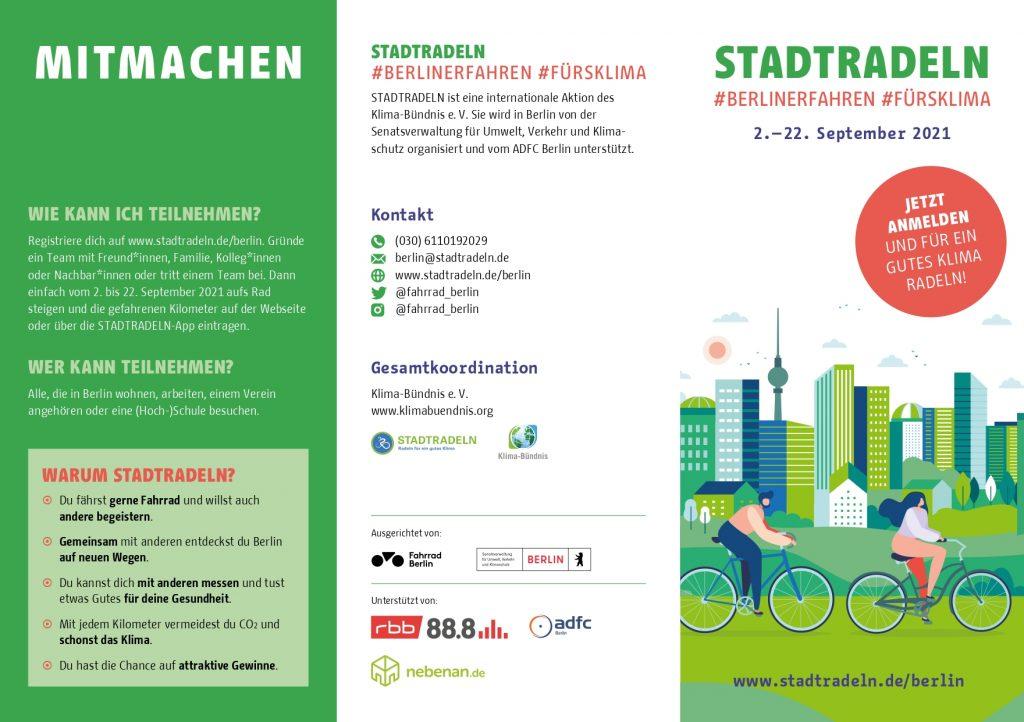 Stadtradeln in Spandau, auch Gesund Plus Energie macht mit